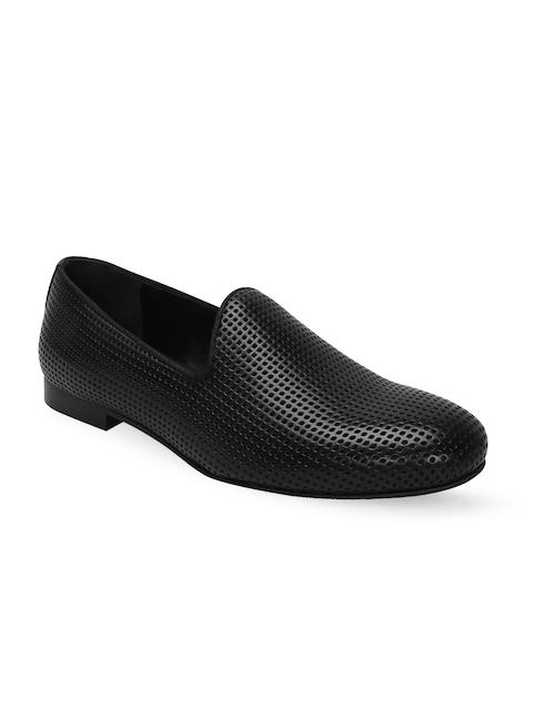 BARESKIN Men Black Leather Loafers