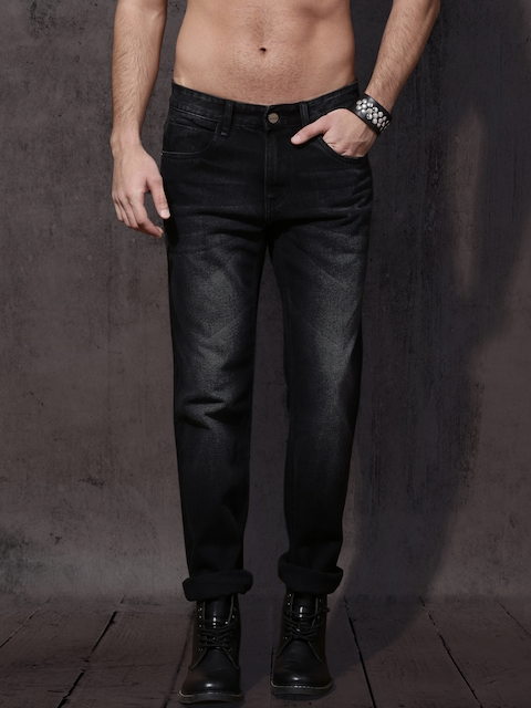 Roadster Men Black Slim Fit Mid-Rise Clean Look Non-Stretchable Jeans