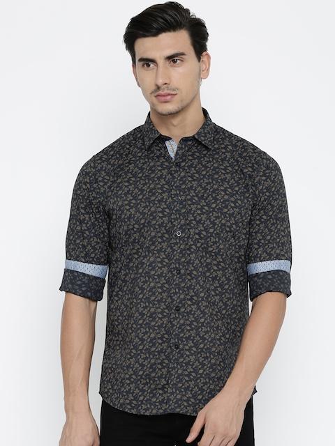 Allen Solly Men Blue Sport Regular Fit Printed Casual Shirt