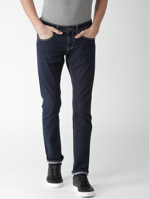 Celio Men Navy Blue Slim Fit Mid-Rise Clean Look Stretchable Jeans  available at myntra for Rs.1374