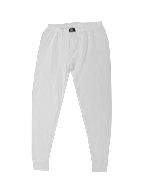Hanes White Self-Striped Skinny Fit Thermal Bottoms