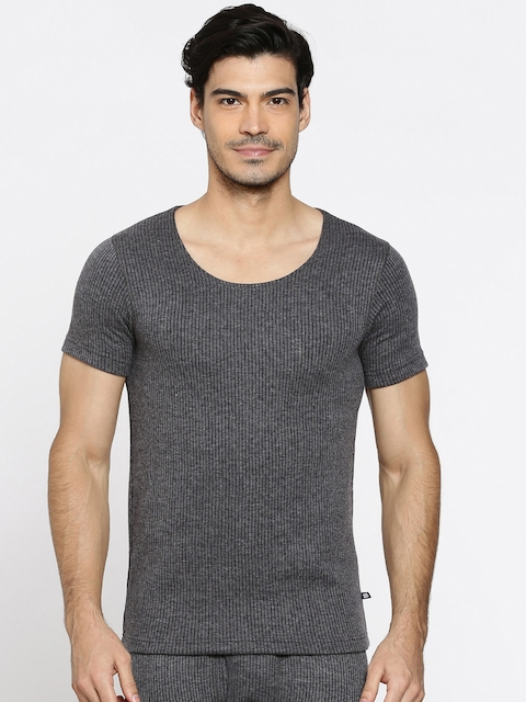 Hanes Charcoal Grey Thermal T-Shirt