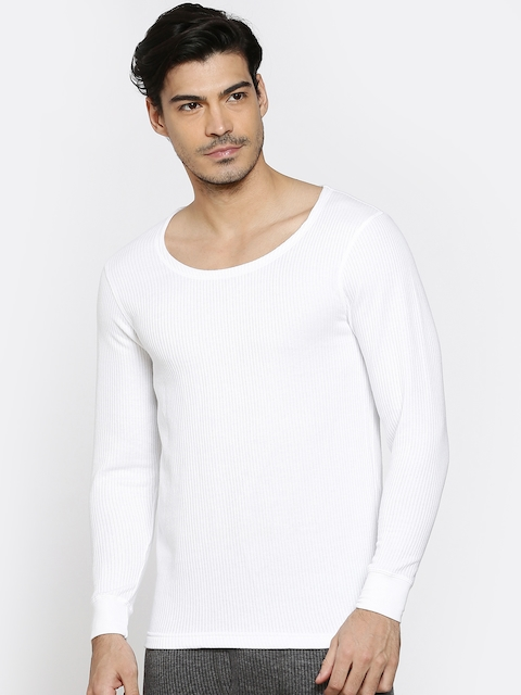 Hanes White Thermal T-Shirt