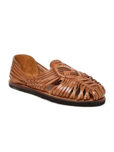 34fc44e75f91e Estd. 1977 Men Brown Leather Sandals