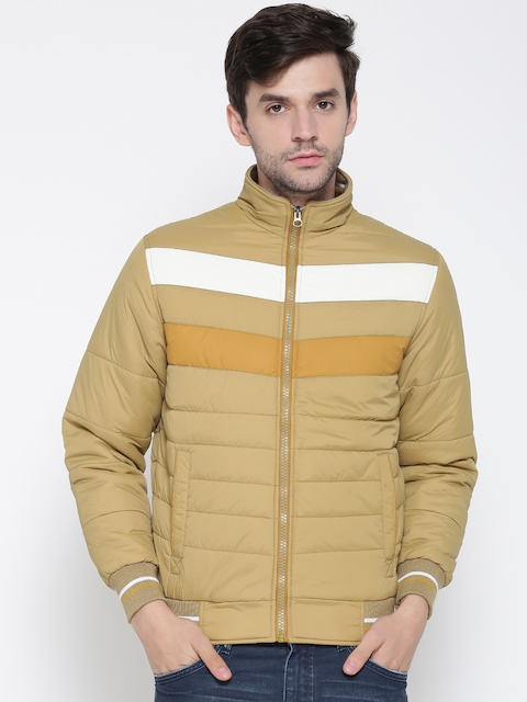Foreign Culture Men Khaki Solid Bomber Jacket  available at myntra for Rs.1199