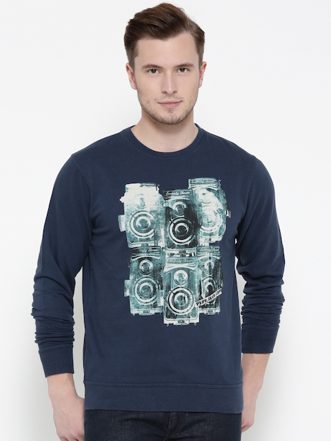 Pepe Jeans Men Navy Printed Sweatshirt