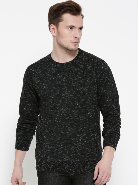 Pepe Jeans Men Black Solid Sweatshirt