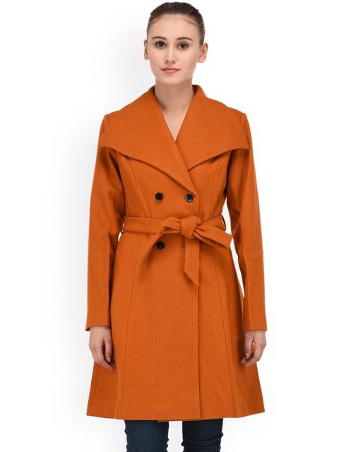 Owncraft Rust Orange Longline Overcoat