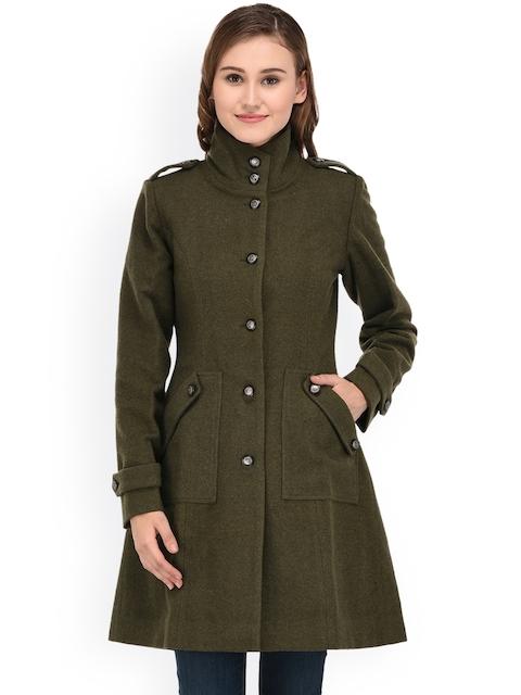 Owncraft Olive Green Longline Overcoat