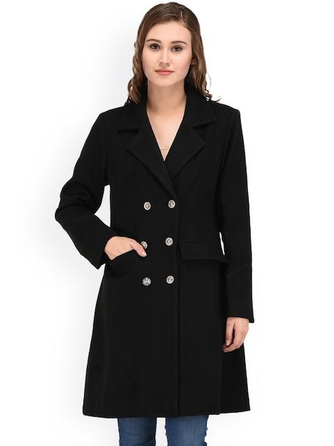 Owncraft Black Longline Pea Coat