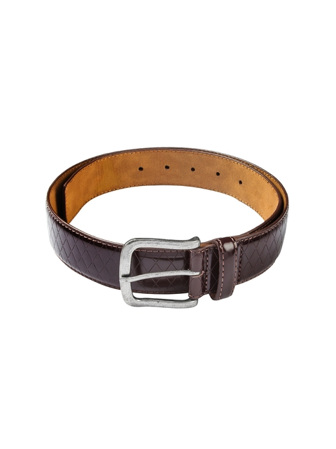 HAMILTON Men Brown Textured Belt