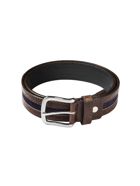HAMILTON Men Brown & Blue Belt