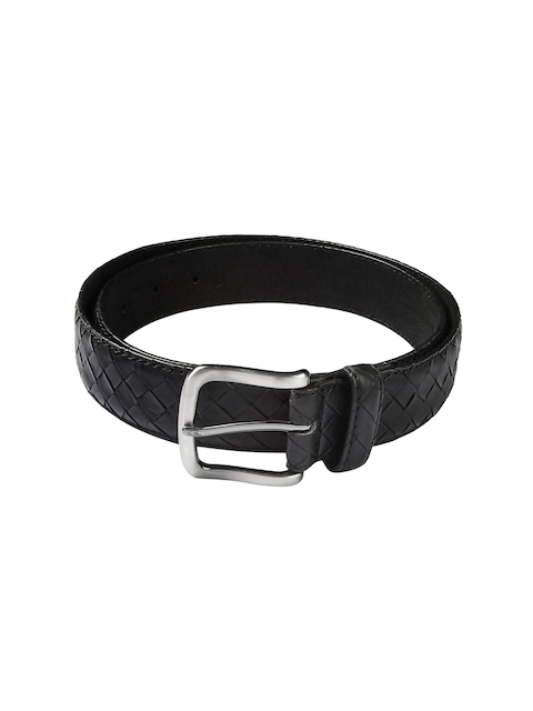 HAMILTON Men Black Basketweave Belt