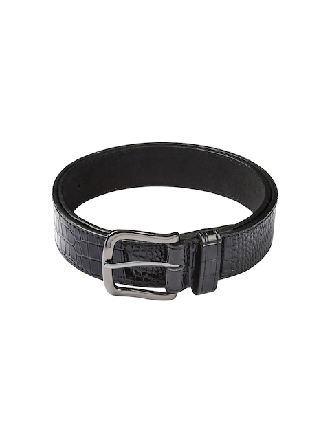 HAMILTON Men Black Textured Belt