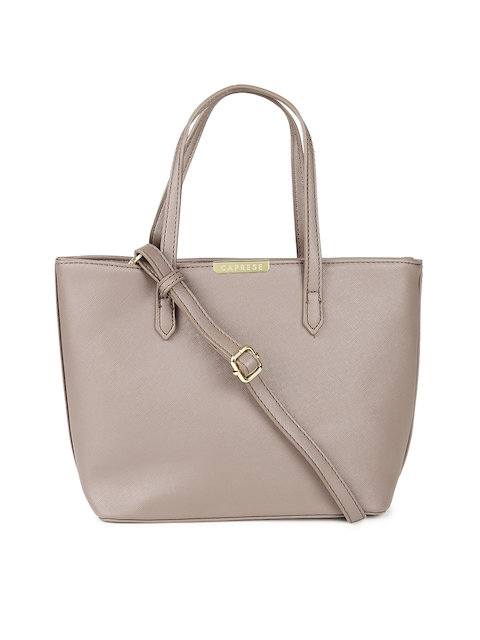 Caprese Mauve Solid Handheld Bag