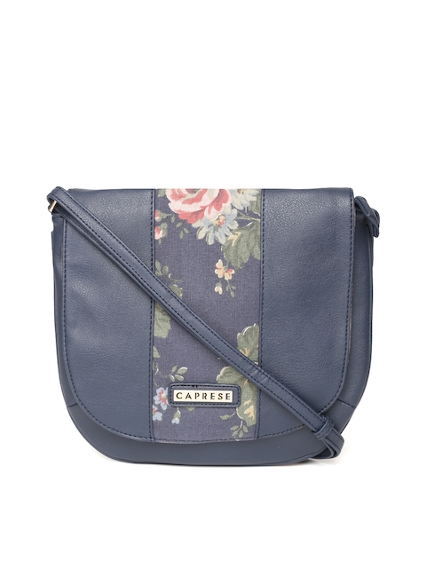 Caprese Navy Solid Sling Bag