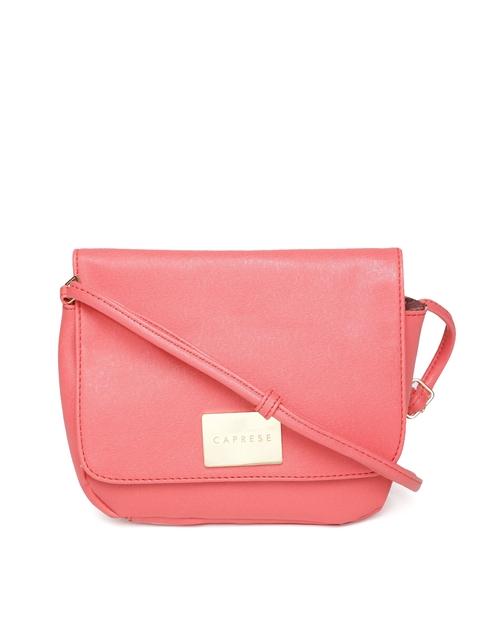 Caprese Pink Solid Sling Bag