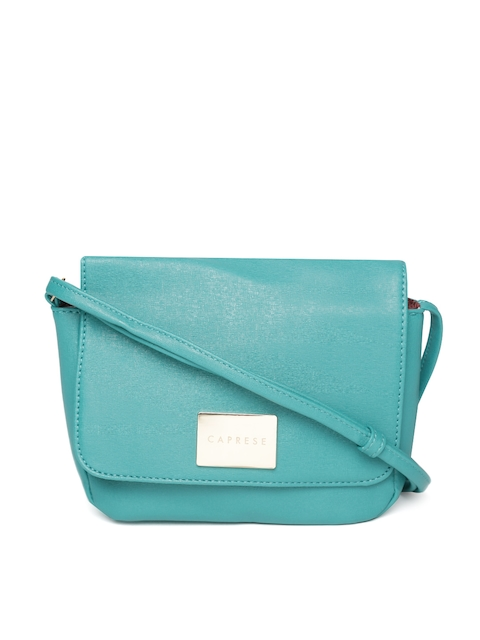 Caprese Blue Solid Sling Bag