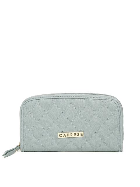 Caprese Women Blue Quilted Zip Around Wallet