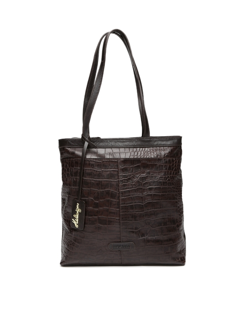 Hidesign Brown Textured Leather Shoulder Bag