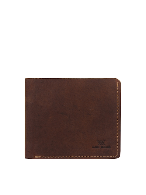 Aditi Wasan Men Brown Solid Genuine Leather Twofold Wallet