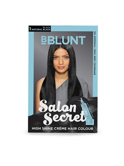 BBLUNT Salon Secret Natural Black High Shine Creme Hair Colour 1