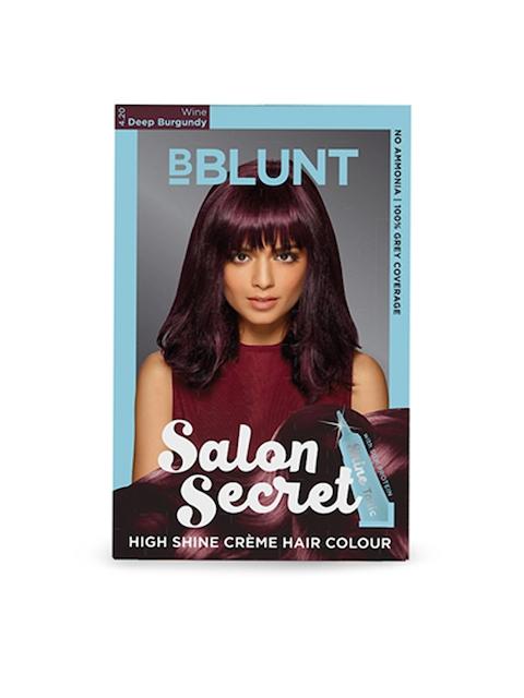 BBLUNT Salon Secret Wine Deep Burgundy High Shine Creme Hair Colour 4.20