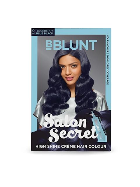 BBLUNT Salon Secret Blueberry Blue Black High Shine Creme Hair Colour 2.10