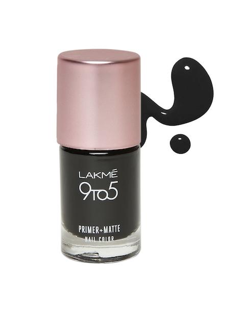 Lakme 9 to 5 Charcoal Matte Primer + Matte Nail Polish 9 ml
