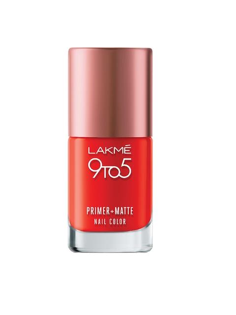 Lakme 9 to 5 Primer + Matte Crimson Nail Colour