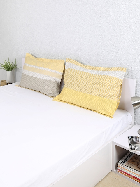 House This Set of 2 Yellow Printed 19x 27 Rectangular Pillow Covers