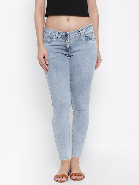 Park Avenue Woman Blue Power Skinny Fit Low-Rise Clean Look Jeans