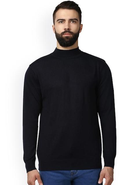 Raymond Men Black Solid Pullover