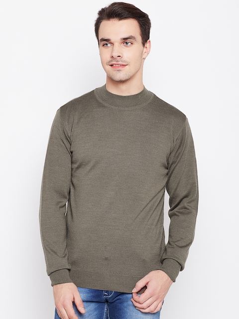 Raymond Men Brown Solid Sweater