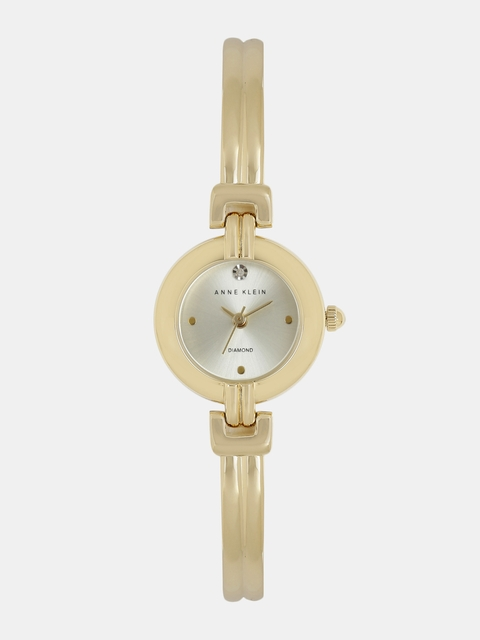 ANNE KLEIN Women Muted Gold-Toned Analogue Watch AK2550CHGB