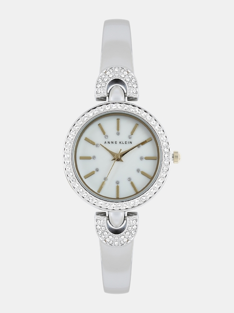 ANNE KLEIN Women White Swarovski Analogue Watch AK2579MPTT