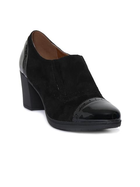 Catwalk Women Black Solid Heeled Boots