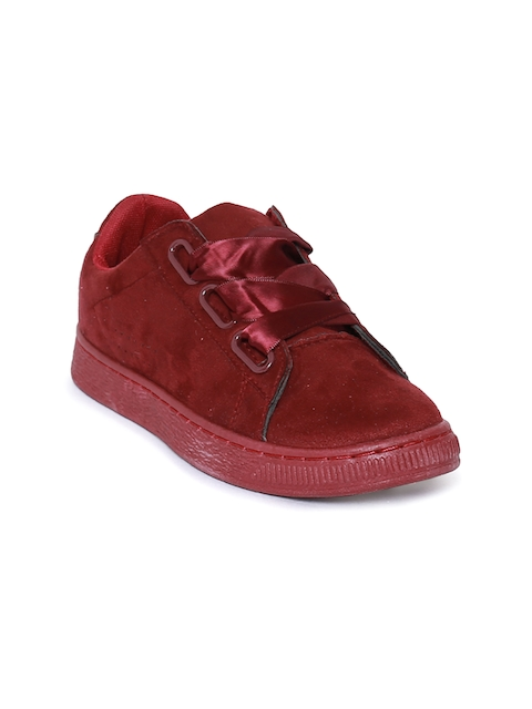 Catwalk Women Maroon Sneakers