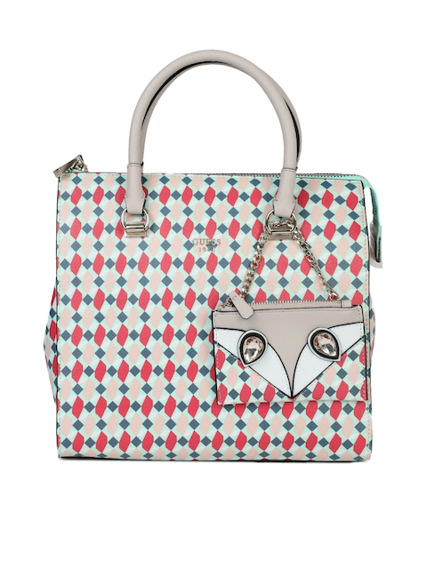GUESS Multicoloured Printed Handheld Bag with Pouch