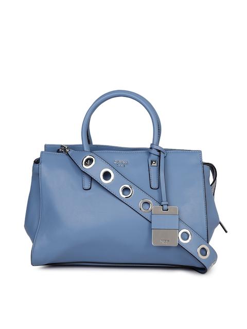GUESS Blue Solid Handheld Bag