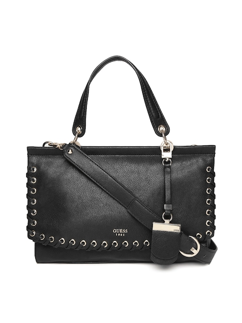 GUESS Black Solid Handheld Bag