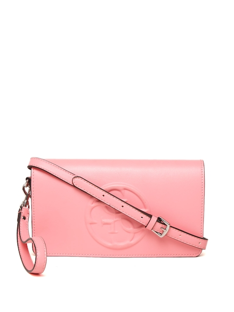 GUESS Pink Solid Sling Bag