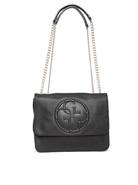 GUESS Black Solid Sling Bag