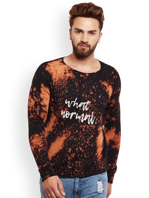 FUGAZEE Men Black & Brown Printed Sweatshirt