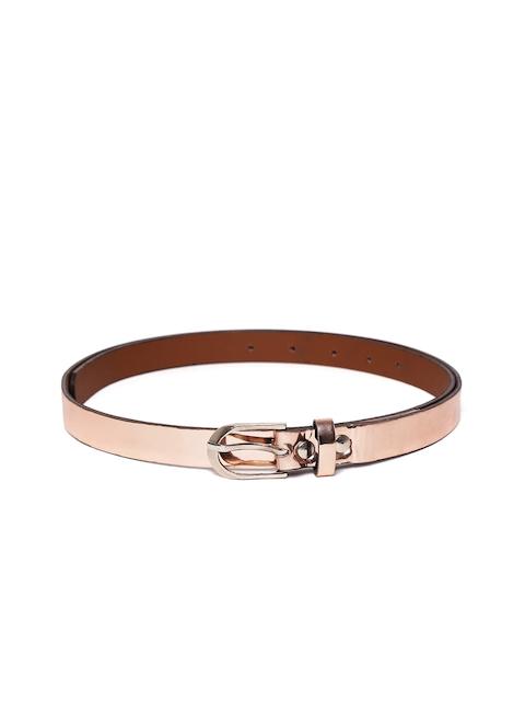 Blueberry Women Rose Gold-Toned Glossy Belt