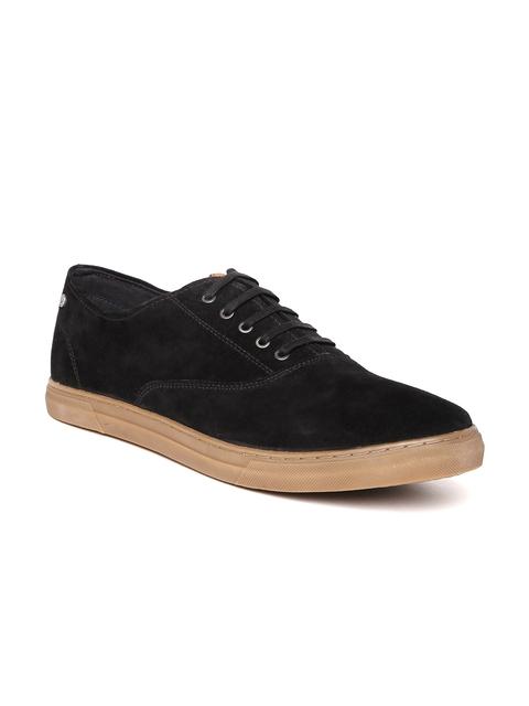 Allen Solly Men Black Suede Sneakers