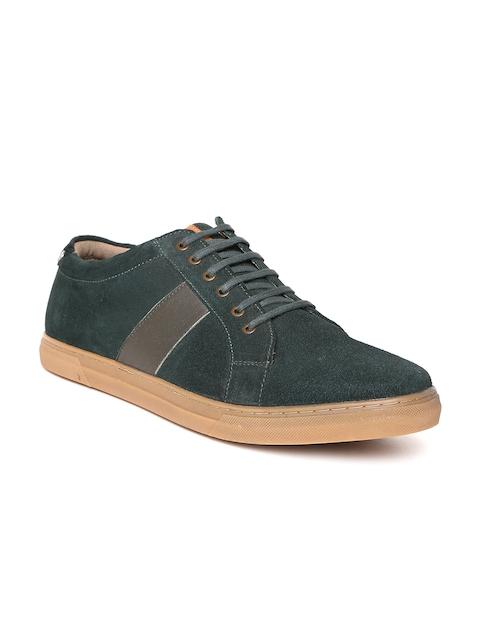 Allen Solly Men Green Suede Sneakers