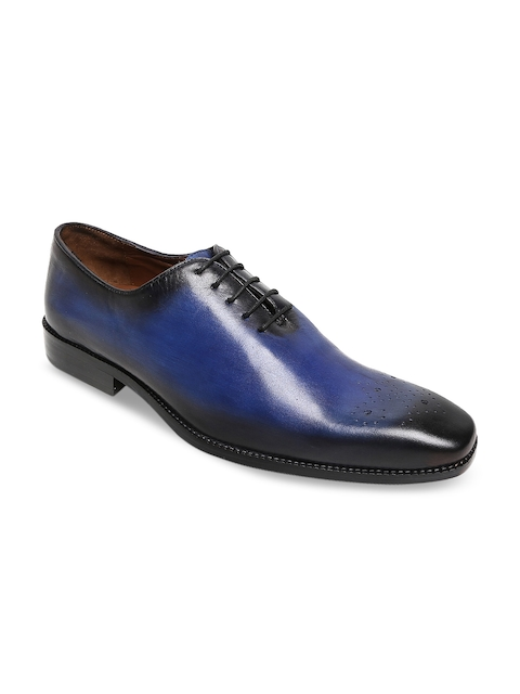 BRUNE Men Blue Leather Formal Shoes