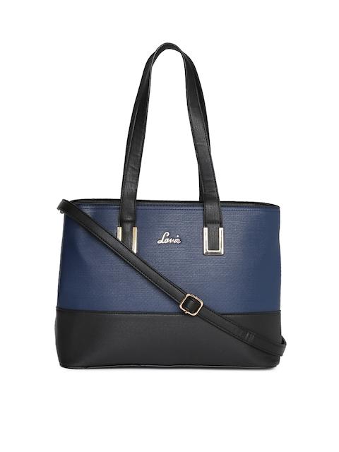 Lavie Blue Colourblocked Shoulder Bag