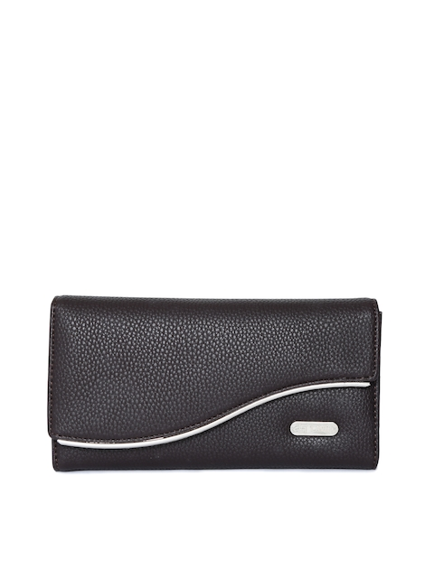 Lavie Women Black Solid Three Fold Wallet